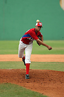 Hansel Rodriguez plays in the 2013 MLB Amateur Prospect Showcase in San  Cristobal, Dominican Republic on January 17, 2013.