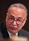 Washington, DC - July 13, 2009 -- United States Senator Chuck Schumer (Democrat of New York) makes his opening statement as the U.S. Senate Judiciary Committee considers the nomination of Judge Sonia Sotomayor as Associate Justice of the U.S. Supreme Court on Monday, July 13, 2009.  .Credit: Ron Sachs / CNP