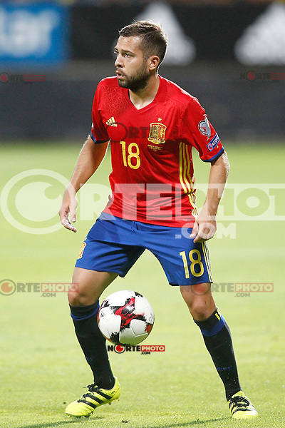 Spain's Jordi Alba during FIFA World Cup 2018 Qualifying Round match. September 5,2016.(ALTERPHOTOS/Acero)