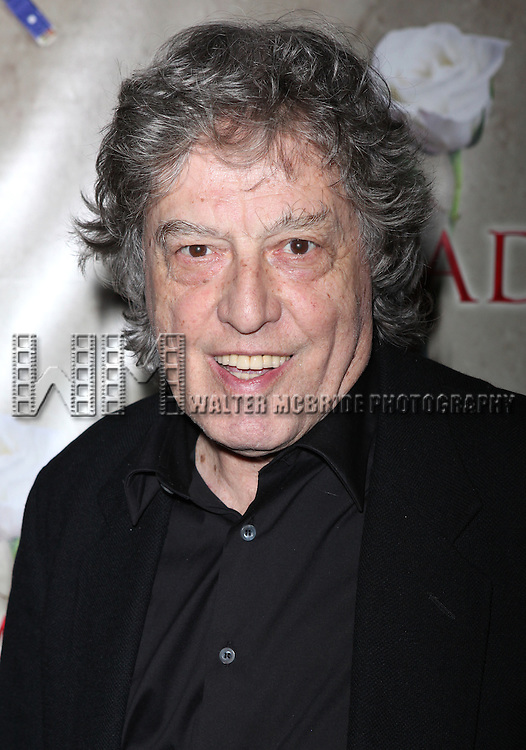 Tom Stoppard.attending the Broadway Opening Night After Party for 'Arcadia' at Gotham Hall in New York City.
