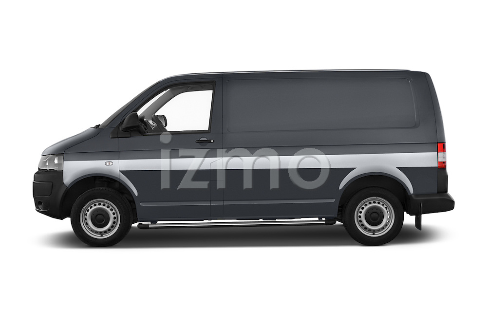 Car Driver side profile view of a 2015 Volkswagen Transporter 2.0 Tdi Bvm6 4 Door Cargo Van Side View