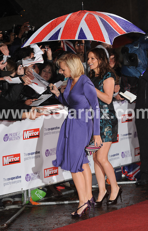 **ALL ROUND PICTURES FROM SOLARPIX.COM**.**WORLDWIDE SYNDICATION RIGHTS**.Arrivals for the Pride Of Britain Awards, held at Southbank Studios, London, UK. 30th September 2008..This pic: Emma Bunton and Geri Halliwell..JOB REF: 7500 SSD     DATE: 30_09_2008.**MUST CREDIT SOLARPIX.COM OR DOUBLE FEE WILL BE CHARGED* *UNDER NO CIRCUMSTANCES IS THIS IMAGE TO BE REPRODUCED FOR ANY ONLINE EDITION WITHOUT PRIOR PERMISSION*