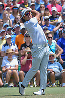 Hideki Matsuyama (JPN) watches his tee shot on 3 during round 1 of The Players Championship, TPC Sawgrass, at Ponte Vedra, Florida, USA. 5/10/2018.<br /> Picture: Golffile | Ken Murray<br /> <br /> <br /> All photo usage must carry mandatory copyright credit (&copy; Golffile | Ken Murray)