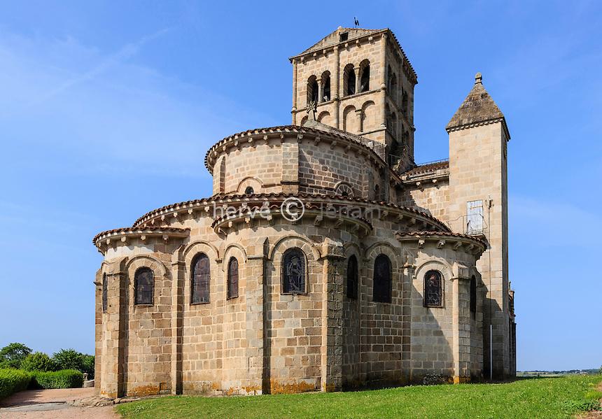 France, Allier (03), Châtel-Montagne, l'église Notre-Dame de Châtel-Montagne, le chevet // France, Allier, Chatel Montagne, Notre Dame church