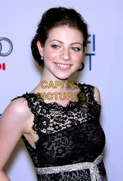 """MICHELLE TRACHTENBERG.AFI Fest 2006 by Audi Presents """"Beautiful Ohio"""" World Premiere - Arrivals held at the ArcLight, Hollywood, California, USA.November 10th, 2006.Ref: ADM/ZL.half length black lace dress sleeveless.www.capitalpictures.com.sales@capitalpictures.com.©Zach Lipp/AdMedia/Capital Pictures."""