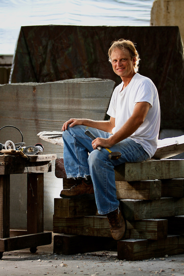 Nationally recognized artist and sculptor Eric Higgs at his St. Petersburg studio Wednesday, June 2, 2010. Photo by Brian Blanco