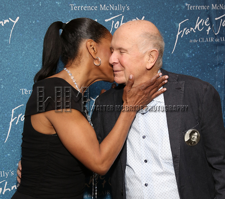 """Audra McDonald and Terrence McNally during the Opening Night After Party for """"Frankie and Johnny in the Clair de Lune"""" at the Brasserie 8 1/2 on May 29, 2019  in New York City."""