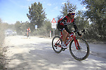 The peloton including Fabio Felline (ITA) Trek-Segafredo on sector 3 Radi during Strade Bianche 2019 running 184km from Siena to Siena, held over the white gravel roads of Tuscany, Italy. 9th March 2019.<br /> Picture: Eoin Clarke | Cyclefile<br /> <br /> <br /> All photos usage must carry mandatory copyright credit (&copy; Cyclefile | Eoin Clarke)