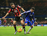 Chelsea's Cesc Fabregas tussles with Bournemouth's Dan Gosling<br /> <br /> Barclays Premier League - Chelsea v AFC Bournemouth - Stamford Bridge - England - 5th December 2015 - Picture David Klein/Sportimage