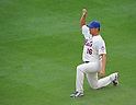 Daisuke Matsuzaka (Mets), AUGUST 23, 2013 - MLB : Daisuke Matsuzaka of New York Mets stretches before their MLB baseball game between New York Mets and Detroit Tigers at Citi Field in New York on Friday August 23, 2013. (Photo by AFLO)