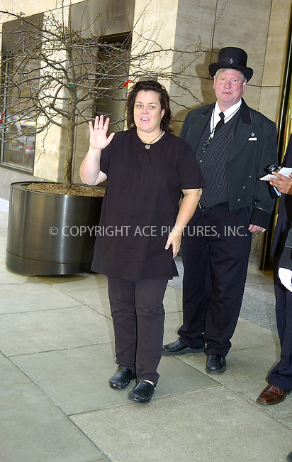 WWW.ACEPIXS.COM ** ** ** ....NEW YORK, MAY 12, 2005....Rosie O'Donnell greets fans and photographers alike outside of her midtown hotel. In two of the pictures you get a glimpse of O'Donnell's partner Kelli Carpenter.....Please byline: Philip Vaughan -- ACE PICTURES... *** ***  ..Ace Pictures, Inc:  ..Craig Ashby (212) 243-8787..e-mail: picturedesk@acepixs.com..web: http://www.acepixs.com