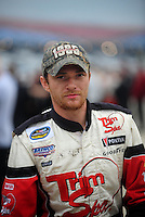 Oct. 30, 2009; Talladega, AL, USA; NASCAR Camping World Truck Series driver Justin Hobgood during qualifying for the Mountain Dew 250 at the Talladega Superspeedway. Mandatory Credit: Mark J. Rebilas-