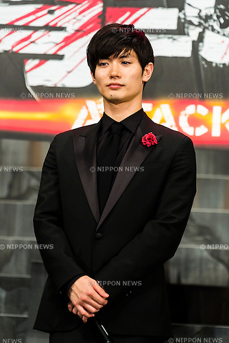 Actor Haruma Miura attends the Japan premiere of the film ''Attack On Titan'' on July 21, 2015. The Japanese film is based on the manga series of the same name, written by Hajime Isayama. The film is divided into two parts; the first part will hit theaters across Japan on August 1st and the second part, entitled ''Attack on Titan: End of the World'', is scheduled for release on September 19, 2015. (Photo by Rodrigo Reyes Marin/AFLO)
