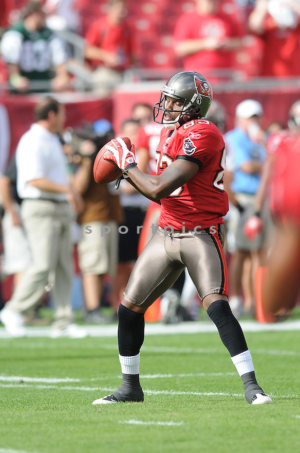 TERRENCE NUNN, of the Tampa Bay Buccaneers, in action during the Buccaneers game against the New York Jets on December 13, 2009 in Tampa, FL. Jets won 26-3.