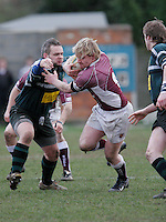 01 MAR 2008 - SCUNTHORPE, UK - Loughborough Students Jamie Hood - Scunthorpe RUFC  v Loughborough Students RUFC. (PHOTO (C) NIGEL FARROW)