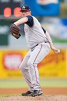 Starting pitcher Connor Graham (36) of the Asheville Tourists in action versus the Hickory Crawdads at L.P. Frans Stadium in Hickory, NC, Wednesday, May 21, 2008.