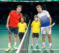 Februari 12, 2015, Netherlands, Rotterdam, Ahoy, ABN AMRO World Tennis Tournament, Guillermo Garcia-Lopez (ESP) - Stan Wawrinka (CAN)<br /> Photo: Tennisimages/Henk Koster
