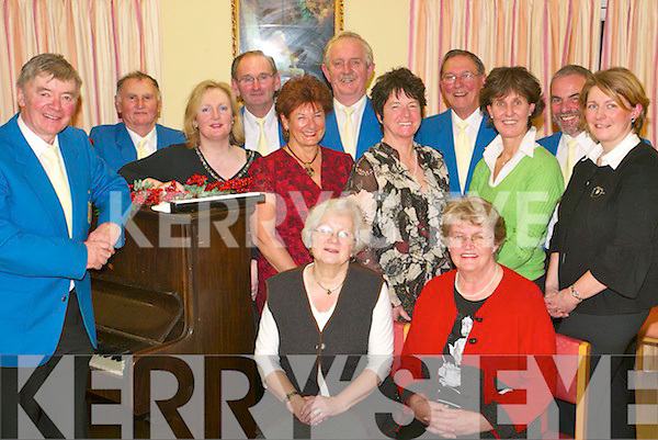 Singers: Performing at Aras Mhuire in Listowel on Wednesday, December 19th was Colm Stride O'Brien and the Listowel Singers. Front: Icke Weber and Noreen Buckley. Middle l-r: Deirdre O'Brien, Liz O'Reilly, Anne O'Brien, Sue Taylor and Karen Trench. Back l-r: Paul Doyle, Tom Fitzgerald, Brendan O'Sullivan, Mick Roberts and John Looney.   Copyright Kerry's Eye 2008