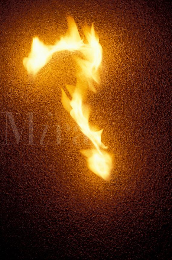 Burning question mark