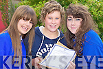 Steevie O'Connor, Grainne Devane and Honor Galvin were ecstatic after receiving the Junior Cert results on Wednesday in Milltown