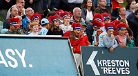Young Kent fans look on during the Vitality Blast T20 game between Kent Spitfires and Somerset at the St Lawrence Ground, Canterbury, on Thur Aug 16, 2018