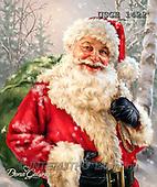 Dona Gelsinger, CHRISTMAS SANTA, SNOWMAN, paintings+++++,USGE1422,#x#