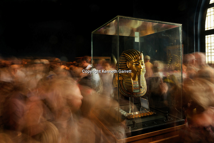 Tut DNA story, Tut treasures room, The Egyptian Museum, Cairo