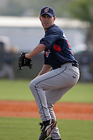 Cleveland Indians minor leaguer Matt Davis during Spring Training at the Chain of Lakes Complex on March 16, 2007 in Winter Haven, Florida.  (Mike Janes/Four Seam Images)