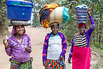 Women Carrying Goods On Thier Heads