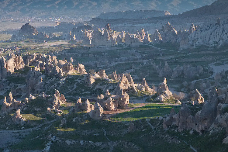 """Nothing beats the views of the Cappadocia valley like hovering in a hot air balloon over the many """"fairy chimney"""" rock formations."""