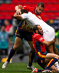 Spain vs Tonga during their HSBC Sevens Wold Series Qualifier match as part of the Cathay Pacific / HSBC Hong Kong Sevens at the Hong Kong Stadium on 27 March 2015 in Hong Kong, China. Photo by Aitor Alcalde / Power Sport Images