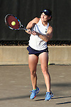 24 March 2016: Notre Dame's Allison Miller. The North Carolina State University Wolfpack hosted the University of Notre Dame Fighting Irish at the J.W. Isenhour Tennis Center in Raleigh, North Carolina in a 2015-16 NCAA Division I Women's Tennis match. NC State won the match 4-3.