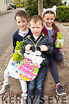 Kelly and Padraig Flaherty with Ella O'Mahony having fun hunting for Easter Eggs at the Barnados fundraiser in the Ballygarry House Hotel on Easter Sunday.