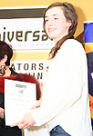 Under 16's poetry runner up, Eimear Johnston, collects her certificate..Picture: Shane Maguire / www.newsfile.ie.