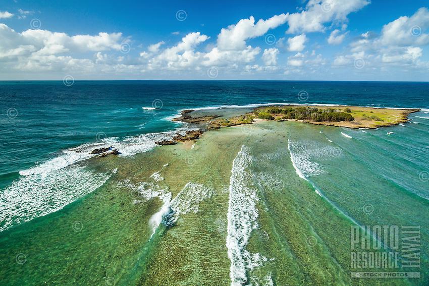 Kapapa Island houses a wildlife sanctuary in Kane'ohe Bay, Windward O'ahu.