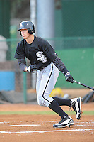 Trayce Thompson Center Fielder Bristol White Sox (Chicago White Sox) swings at a pitch at Joe O'Brien Stadium August 31, 2009 in Elizabethton, TN (Photo by Tony Farlow/Four Seam Images)