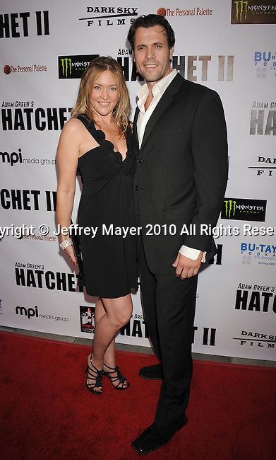 """HOLLYWOOD, CA. - September 28: Seddona Johanson and Rafael Moreno arrive at the """"Hatchet II"""" Los Angeles Premiere at the Egyptian Theatre on September 28, 2010 in Hollywood, California."""