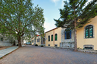 The central square of Dimitsana village in Arcadia, Peloponnese, Greece.