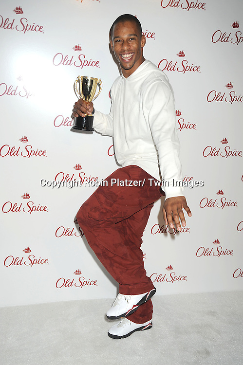 New York Giant Victor Cruz attends the Old Spice Bounty of Scents Event on ..March 13, 2012 at Highline Stages in New York City.