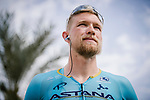 Magnus Cort Nielsen (DEN) Astana Pro Team before the start of Stage 4 of 10th Tour of Oman 2019, running 131km from Yiti (Al Sifah) to Oman Convention and Exhibition Centre, Oman. 19th February 2019.<br /> Picture: ASO/P. Ballet | Cyclefile<br /> All photos usage must carry mandatory copyright credit (&copy; Cyclefile | ASO/P. Ballet)