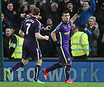 Sergio Aguero of Manchester City celebrates converting his penalty kick - Barclays Premier League - Stoke City vs Manchester City - Britannia Stadium - Stoke on Trent - England - 11th February 2015 - Picture Simon Bellis/Sportimage