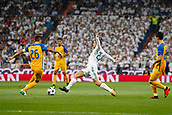 13th September 2017, Santiago Bernabeu, Madrid, Spain; UCL Champions League football, Real Madrid versus Apoel; Mateo Kpvacic (23) Real Madrid blocks the shot from Nuno Morais (26) Apoel