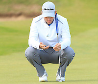 Bradley Neil (ENG) on the 7th green during Round 3 of the 2015 Alfred Dunhill Links Championship at Kingsbarns in Scotland on 3/10/15.<br /> Picture: Thos Caffrey | Golffile