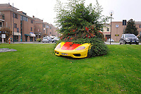 Un giardino di Maranello.A garden in Maranello, the small city where the Italian sports car manufacturer is based.