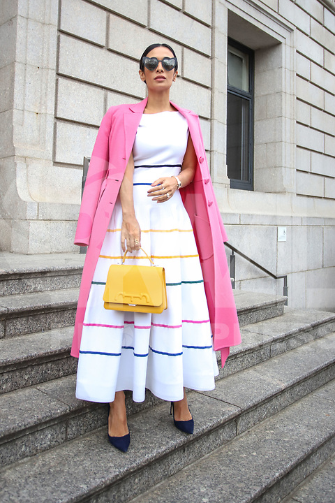 NOVA YORK, EUA, 11.02.2019 - MODA-NOVA YORK - Silva Braz é vista chegando para o desfile da Carolina Herrera no New York Fashion Week nesta segunda-feira, 11. (Foto: Vanessa Carvalho/Brazil Photo Press)