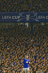 Everton 3 Larissa 1, 25/10/2007. Goodison Park, Europa League Group A. Home fans watching James McFadden as Everton take on AE Larissa at Goodison Park, Liverpool in their UEFA Cup Group A match. Everton beat the Greek team by three goals to one on the opening night of group matches in the UEFA Cup. It was the first meeting between the two clubs. Photo by Colin McPherson.