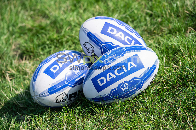 Picture by Allan McKenzie/SWpix.com - 25/07/2018 - Rugby League - Dacia Flair Play - New Spring Lions & Ince Rose Bridge RLFC, Ince-in-Makerfield, England - Dacia, balls, branding.