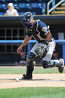 Connecticut Tigers catcher Austin Green (29) during game against the Staten Island Yankees at Richmond County Bank Ballpark at St.George on July 7, 2013 in Staten Island, NY.  Staten Island defeated Connecticut 6-2.  (Tomasso DeRosa/Four Seam Images)