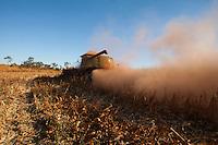 Grandes plantações de soja, milho e algodão cercam o Parque Indígena do Xingu (PIX) .<br /> Habitados pelas etnias Aweti, Ikpeng, Kaiabi, Kalapalo, Kamaiurá, Kĩsêdjê, Kuikuro, Matipu, Mehinako, Nahukuá, Naruvotu, Wauja, Tapayuna, Trumai, Yudja, Yawalapiti, o parque ocupa área de 2.642.003 hectares na região nordeste do Estado do Mato Grosso, <br /> De acordo com o IMEA - Instituto Mato-Grossense de Economia Agropecuária declarou último dia 7 de agosto de 2015 no informativo 365 divulgou dados novos das safras de soja em MT com a safra 14/15<br /> consolidando-se com mais um ano de área e produção recordes. Por meio do método de Sensoriamento Remoto<br /> a nova área de 9,01 milhões de hectares apresenta-se 6,8% acima da área da safra 13/14. A produtividade já<br /> consolidada de 51,9 sc/ha elevou a produção para 28,08 milhões de toneladas. Os novos dados da safra 15/16<br /> aumentaram ainda mais a expectativa de safra recorde já esperada no último relatório. A nova área de 9,2 milhões<br /> de hectares baseia-se na conversão de área de pastagem em agricultura observada há algumas safras. A<br /> continuidade de investimento em tecnologia da nova safra eleva a projeção de produtividade para 52,6 sc/ha,<br /> refletindo sobre a produção que deve bater um novo recorde em 2016, de 29 milhões de toneladas. Apesar do<br /> crescimento contínuo, a nova temporada deve atingir o menor avanço da produção desde a safra 10/11. <br /> Querência, Mato Grosso, Brasil.<br /> Foto Paulo Santos<br /> 30/07/2015