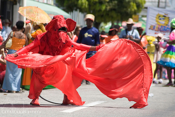 Carnival; traditional mas; bat mas; Adam Smith Square; Port of Spain; Trinidad Carnival
